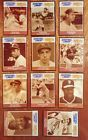Ruth Mantle Gehrig DiMaggio Mays+ Starting Lineup Baseball Greats Card Lot of 11