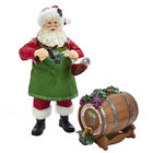 Fabriche Wine Santa with Barrel Christmas Figurine 2 Piece Set FA0111 New