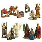 Three Kings 10 Piece Nativity Ornament Display Set with Wooden Chest