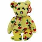 TY Beanie Baby - PINATA  yellow Bear Mexican Flag Nose) 8.5