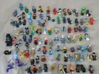 Lot of 100 assorted LEGO minifigs minifigures Serpent Cowboy Scooter Wonder Womn