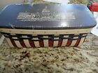 LONGABERGER US CAPITAL BUILDING BASKET COMBO NEW WOOD LID AND PROTECTOR