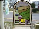 Stained Glass Afternoon at the Wine Villa Sun catcher Real Glass