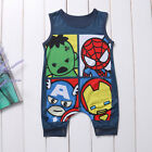 Baby Boy Girls Romper Cartoon Jumpsuit Sleeveless Playsuit Kids Clothes Outfits