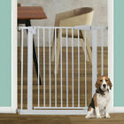 307 Dog Gate Fence with Openable Door Metal Pet Baby Safety Gate Indoor