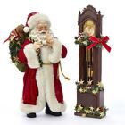 Fabriche Santa With Clock 2 Piece Set Figurine 12 Inch FA0115 New