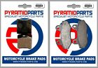 Front & Rear Brake Pads for Hyosung Exceed 125 MS1 125/150 02-04