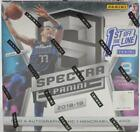 2018 19 PANINI SPECTRA FOTL 1ST OFF THE LINE BASKETBALL HOBBY BOX