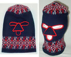Vintage 1960s 1970s Acrylic Knit FULL FACE MASK snowmobile ski hat beanie robber