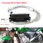 65ml Aluminum Oil Cooler Cooling Radiator Kit Black For Honda CB CG 100CC 250CC