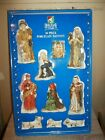 HOLIDAY TIME 10PC PORCELAIN BISQUE NATIVITY SET NEW HOLIDAY CHRISTMAS