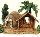 FONTANINI ITALY 25STABLE w PALM  KINGS TENT NATIVITY VILLAGE SCENE 50222 NIB