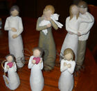 6 PREOWNED WILLOW TREE FIGURINES TOGETHER PEACE ON EARTH CHERISH + 3 MORE