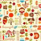 06174 Fall Thanksgiving And Harvest Flannel Fat Quarter