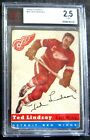 1954-55 TED LINDSAY TOPPS 54-55 CARD #51**Detroit Red Wings**BVG**