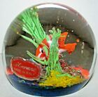 Stunning Murano Italy Cenedese Glass Fish Aquarium Paperweight Sculpture Signed