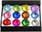 60mm Diamond Gift Home Decor Jewel Round Cut Crystal Paperweight Box Set 12pcs