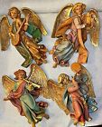 Vintage Fontanini DEPOSE Italy Nativity ANGELS w Instruments WALL HANGINGS