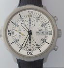 IWC 376801 Aquatimer Automatic Steel Chronograph Silver Dial Day Date