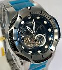 Invicta Bolt Black Cabled Case / Black Dial Brushed Steel Automatic Mens Watch