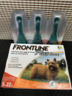 Frontline Plus for Small Dogs Puppies 5 22 pounds Flea Tick Treatment 3 Doses