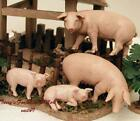 FONTANINI DEPOSE ITALY RARE 5 75 PIGS 4PC SET VILLAGE NATIVITY ANIMAL NEW