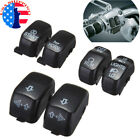 6PCS Hand Control Switch Cover For Sportster Dyna Softail Road King 1996-2013