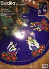 Bucilla NATIVITY SCENE Christmas Felt Applique Tree Skirt Kit  83419 43 Round