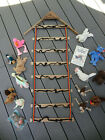 14 TY BEANIE BABY STUFFED ANIMALS & TREE HOUSE STORAGE WALL HANGER RACK & BOOK