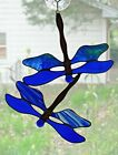 Handmade Stained Glass DRAGONFLY SuncatcherDF086