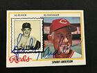 1978 Topps #401 Sparky Anderson Auto Reds Manager Autograph HOF RARE !!!!!
