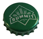 500 Green Beer Bottle Caps Summit Used NO DEFECTS