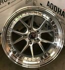18x85 Silver Machined Aodhan DS08 Wheels 5x100 +35 Rims 18 Inch Set 4