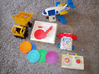 Bundle Toys Vintage Fischer Price Aircraft Record Player Truck Transistor Phone