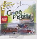 JOHNNY LIGHTNING GONE FISHING S3 1981 JEEP WAGONEER WITH BOAT  TRAILER 1 2508 A
