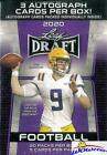 2020 Leaf Draft Football PREMIUM HOBBY Factory Sealed Blaster Box-3 AUTOGRAPHS !