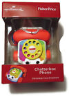Hallmark Fisher-Price Christmas Tree Ornament Chatterbox Phone Toy NEW
