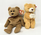 NWT ty beanie baby Curly & Hope The praying bear with hang tag and tush tag