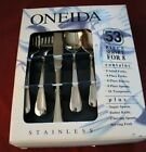 Oneida Stainless SATIN SAND DUNE 18 8 USA 53 Piece Service for 8 Serving Unused