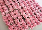 144 Mulberry Paper Rose Flower Bouquet wire stem Craft Card Makin H420 Baby Pink