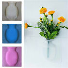 Magic DIY Rubber Silicone Sticky Flower Wall Hang Vase Container Floret Bottles