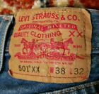 Levis 501XX Jeans 35 x 27 measured Made in Colombia Vintage