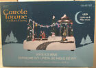 Christmas Village Carole Towne Collection Ivy's Ice Rink LED and Moving Skaters