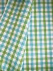 FABRIC COTTON Heavy Thick Green White Blue Woven W52 REMNANT 1YARD 8