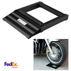 1x Universal Black Aluminum Wheel Roller Stand Roll-up Ramp For Motor Wheel Tyre