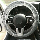 100X Universal Disposable Plastic Steering Wheel Cover Waterproof Car Accessory!