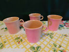 Fiesta Coffee Mugs, Four, Retired/Disc. Color Apricot/Peach, Excellent Condition