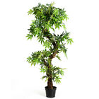 Topbuy Artificial Green Decorative Tree Keel Red Vine Bonsai