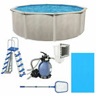 Aquarian Phoenix 15ft x 52in Above Ground Swimming Pool w Pump and Pool Ladder