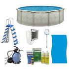 Aquarian Khaki Venetian 15ft x 52in Complete Above Ground Swimming Pool Package